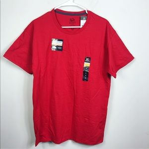 Red Men's Fruit of The Loom Short Sleeve Tee